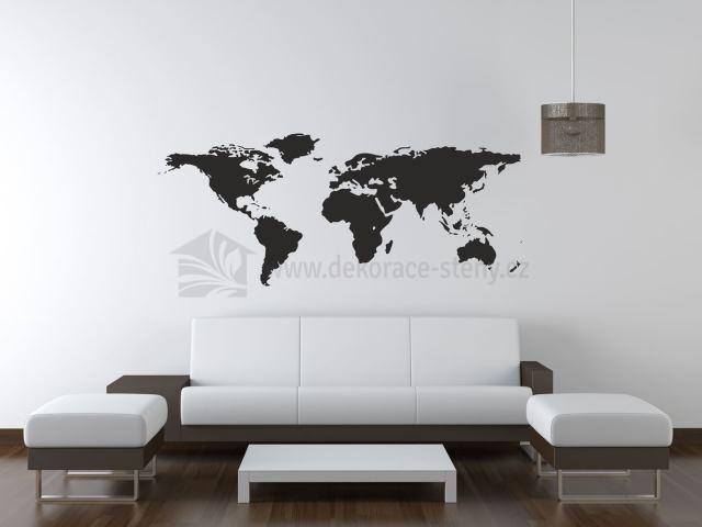 Samolepky Na Zed Mapa Sveta Dekorace Steny Cz